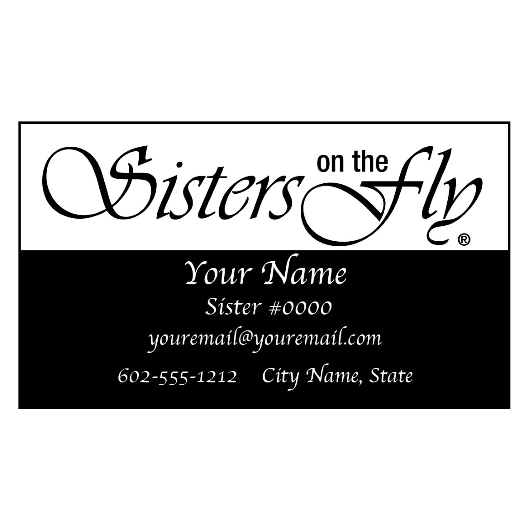 Custom SOTF Business Cards - Sisters on the Fly