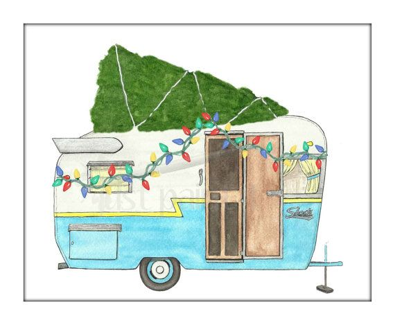 If Vintage Trailers Sent Holiday Cards