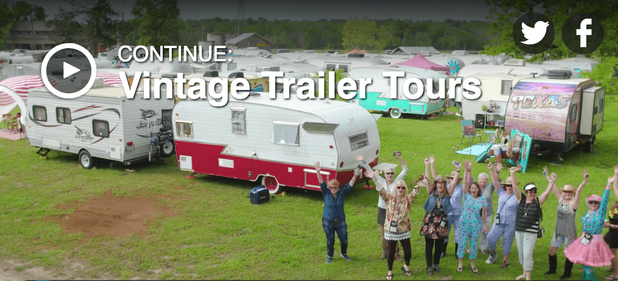 The Junk Gypsies tour vintage trailers with Sisters on the Fly