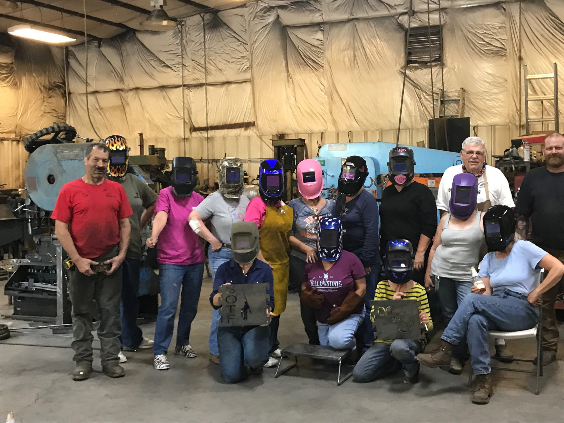 Women Who Weld! Learning Something New!