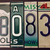 Custom License Plate Signs
